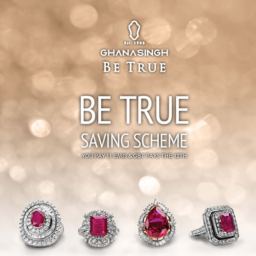 Whenever there's a wedding in the family, the biggest worry is always jewellery shopping. 'Be True' Savings Scheme takes care of this stress while you take care of other arrangements. #Jewellery #Fashion #GhanasinghBeTrue #Savings #Scheme