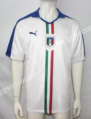2016 European Cup Italy Away White Thailand Soccer Jersey