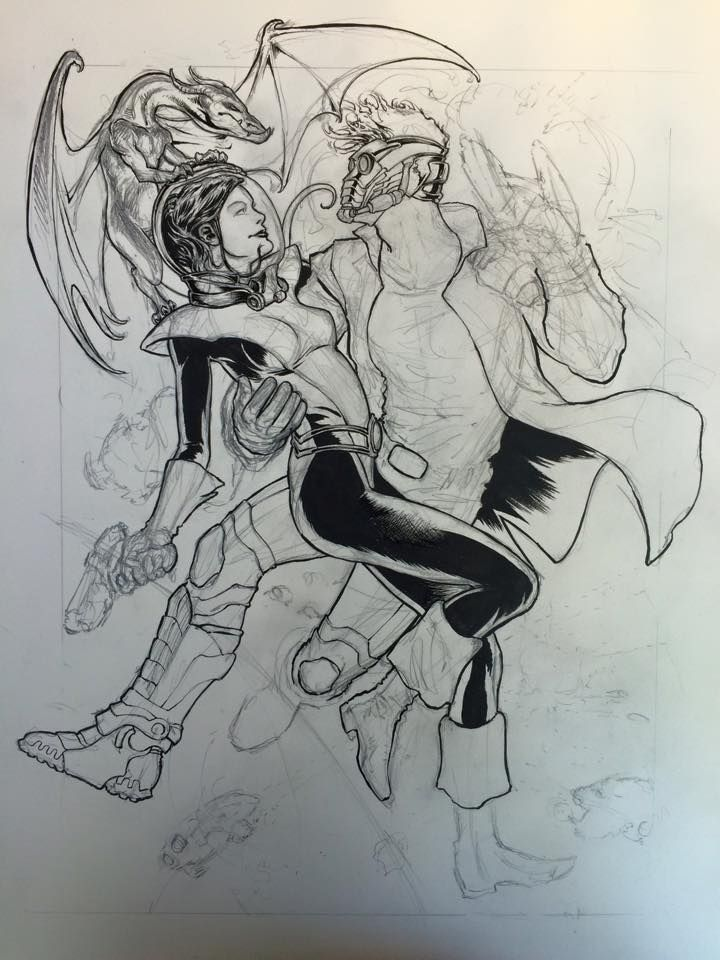 Daniel Govar - Star-Lord and Kitty Pryde - WIP 1