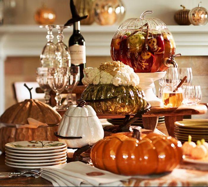 Halloween Home Decor Catalogs: Pottery-Barn-Pumpkin-with-Serve-Stand-Halloween-Table.jpg