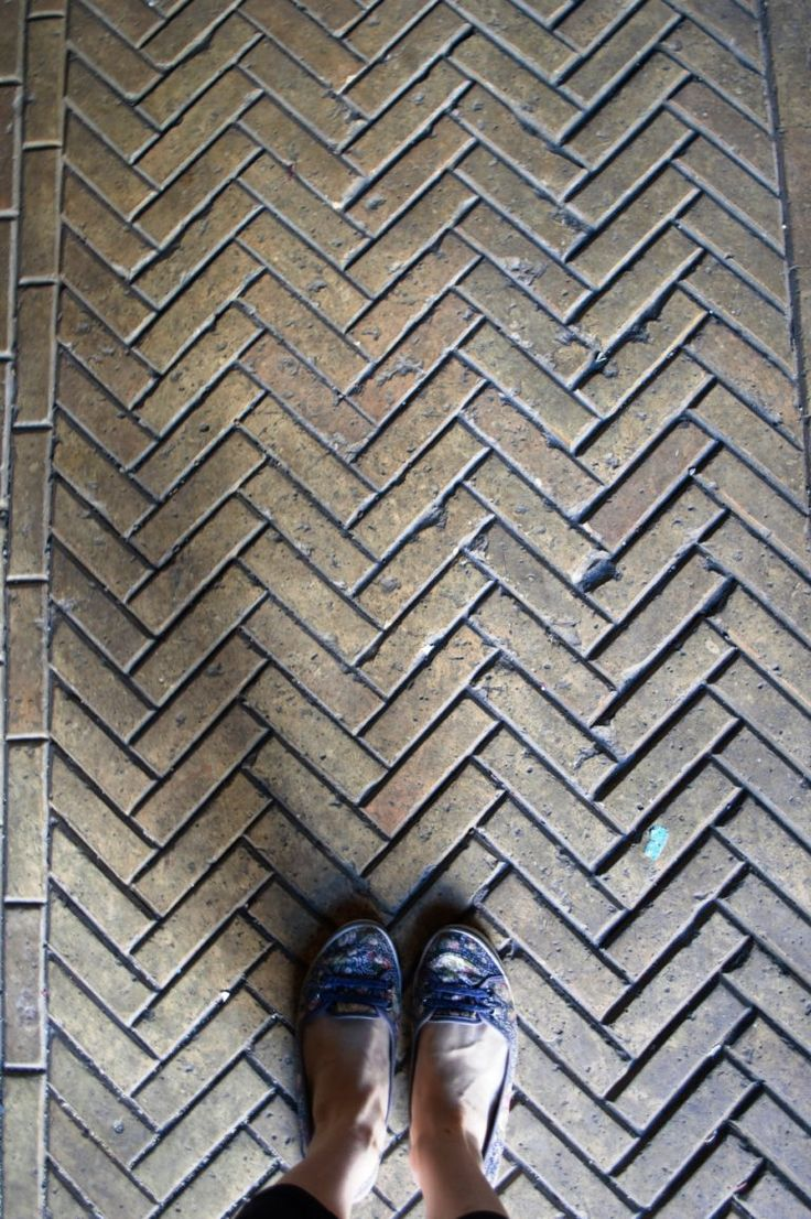 Parquet Bricks in the Engine Room of London Road Fire Station Manchester. Beautiful! Beautiful criss cross brickwork on the floors of London Road Fire Station in Manchester. Check out the blog for a full tour of the abandoned space