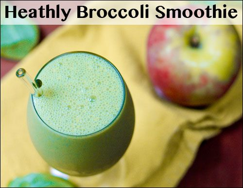 Healthy Broccoli Smoothie        1  Carrot (chopped)      4  Florets of Broccoli      2  Handfuls of Spinach      1  Apple (chopped)      2  Oranges (peeled and quartered)      Orange Juice to dilute