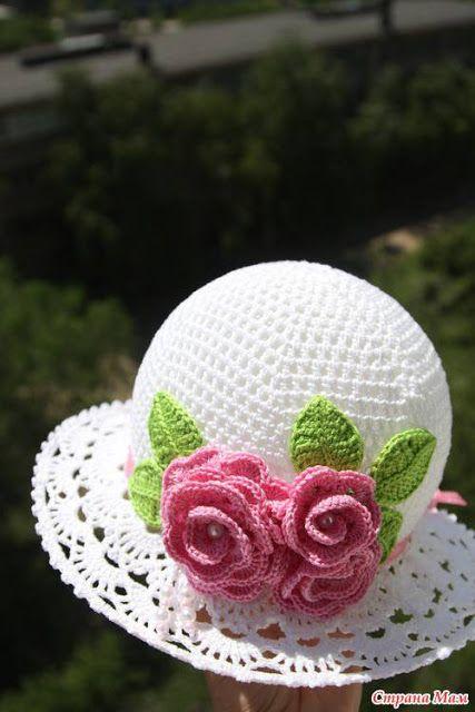 Crochet golden hat