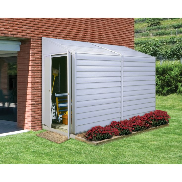 Garden Sheds X Absco Storemaster Metal Pent Shed Throughout