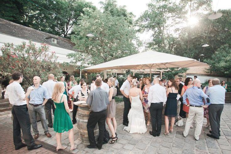 Hochzeit im Weingut Hajszan Außen Wien