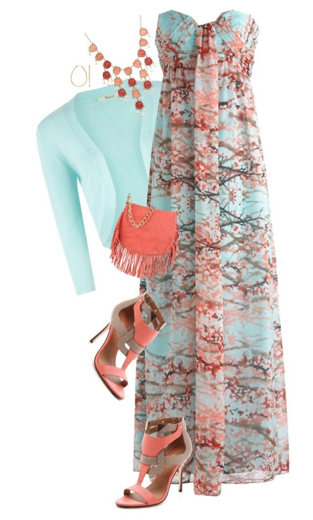 Cherry Blossom Maxi II by dkelley-0711 on Polyvore featuring polyvore, fashion, style, Precis Petite, Rachel Roy, George J. Love, Apt. 9, clothing and modcloth