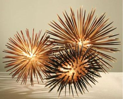 Sea Urchin Table Lamps Made from Chopsticks by Lacor: Shells, Trav'Lin Lights, Milk Glass, Urchins Lights, The Ocean, Google Search, Sea Urchins, Tables Lamps, Urchins Lamps