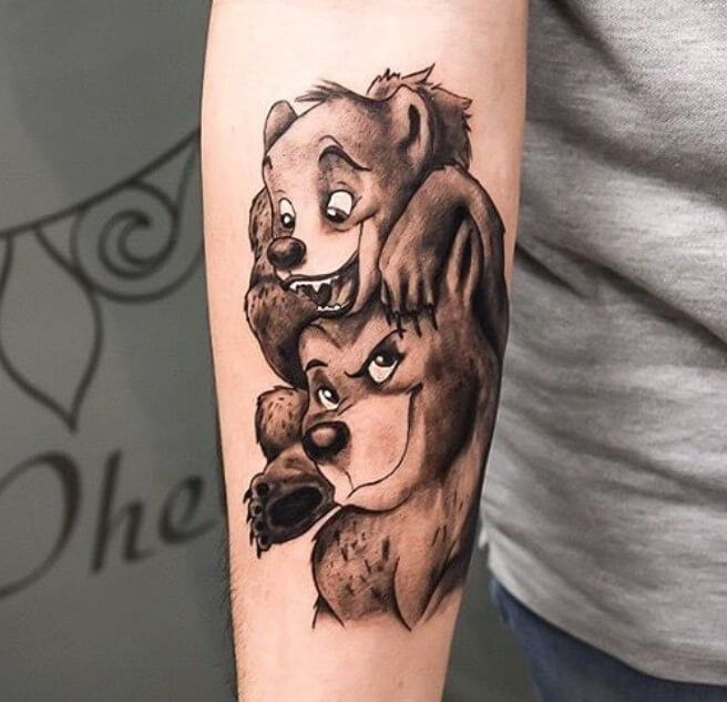 10 Best Disney S Brother Bear Tattoo Designs And Ideas Petpress In 2020 Bear Tattoo Designs Brother Bear Tattoo Brother Bear