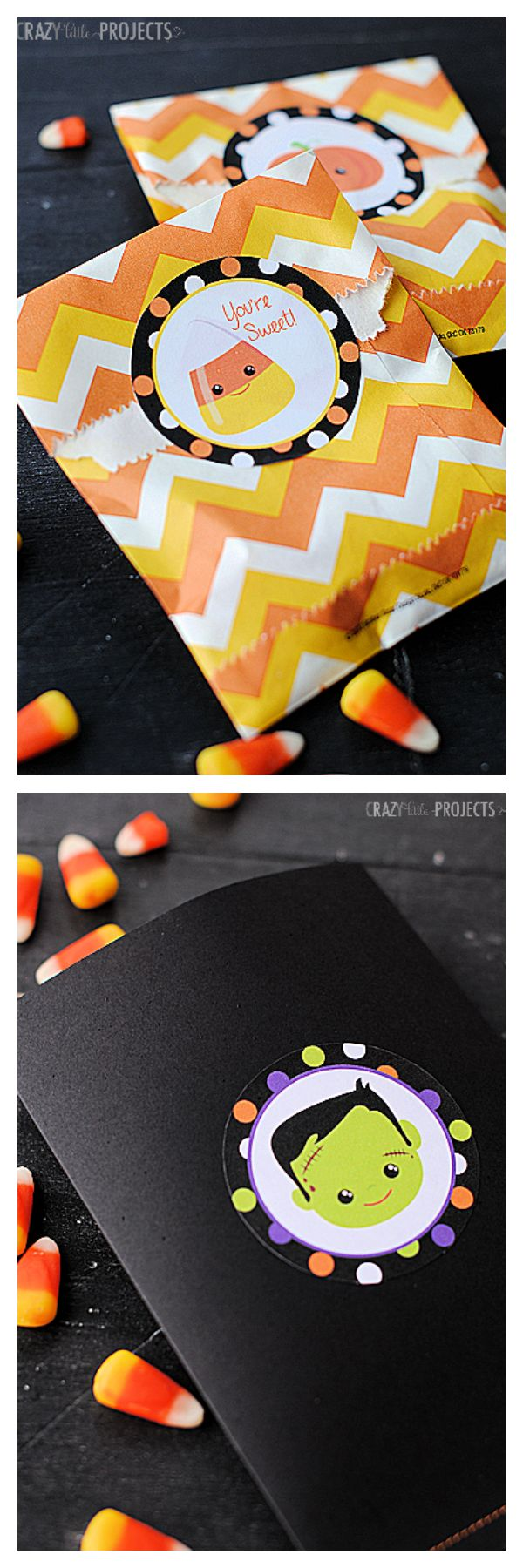 Free Printable Halloween Stickers from Crazy Little Projects (easy to cut out with your Silhouette!)