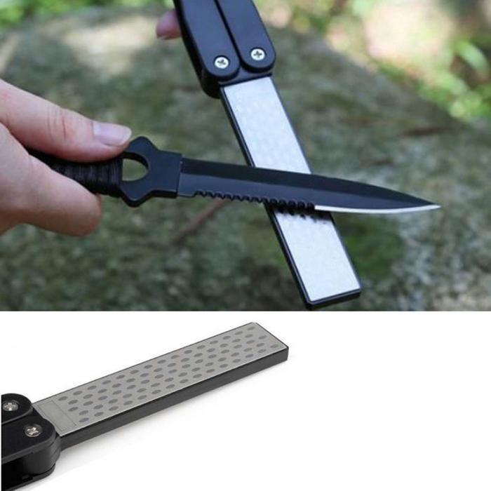Superior Diamond Knife Sharpener Stone For Camping Double Sided Folded Pocket Knife Whetstone Sharpening Stone