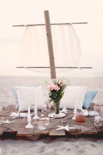 :) Romantic  picnic on the beach....