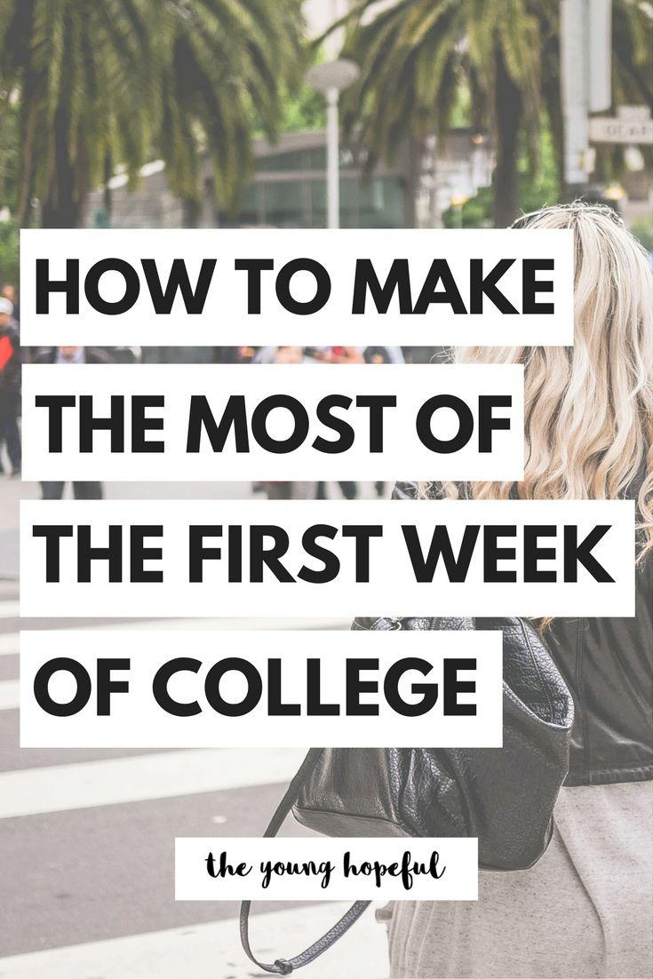 The first week of college is so important, so we have some tips on how to make the most of your first week!