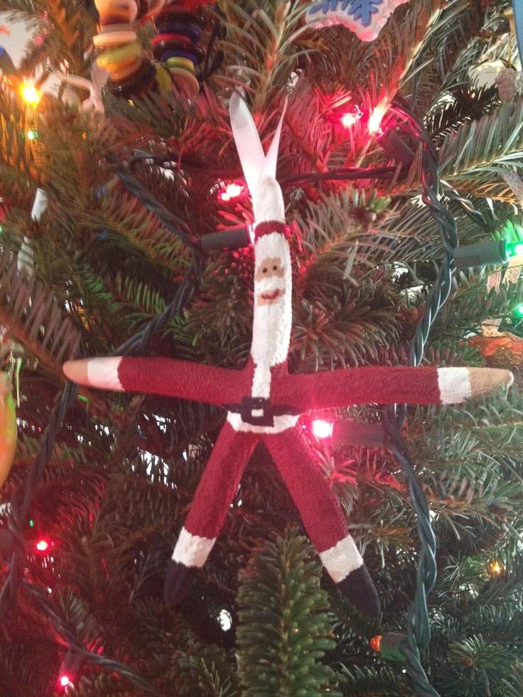 Starfish Santa ornament