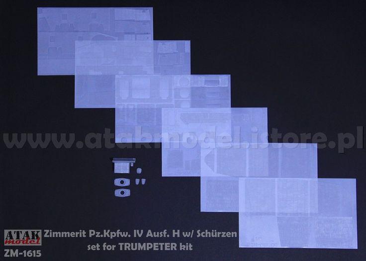 ZM-1615 ZIMMERIT Pz.Kpfw. H w/ Schürzen for TRUMPETER kit