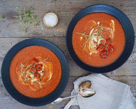 Vanløse blues.....: Bagt tomatsuppe med frisk timian