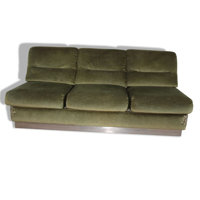 banquette velours vert ann es 70 banquettes. Black Bedroom Furniture Sets. Home Design Ideas