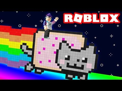 d7fc7a5a7565 Riding a NYAN CAT down a 9999FT rainbow slide in Roblox! - YouTube ...