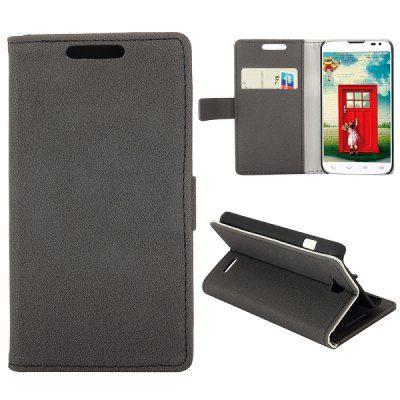 Llévalo por solo $25,000.Grava la caja del cuero de la PU de la textura de cuerpo completo con la ranura para la tarjeta de crédito del soporte para LG L90 D405.