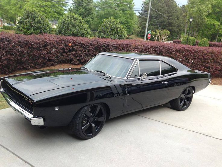'68 Dodge Charger all blacked out..