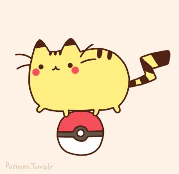 So Pusheen can't really make it to the Pókemon game? Actually, I'd be really happy if it were all cats.