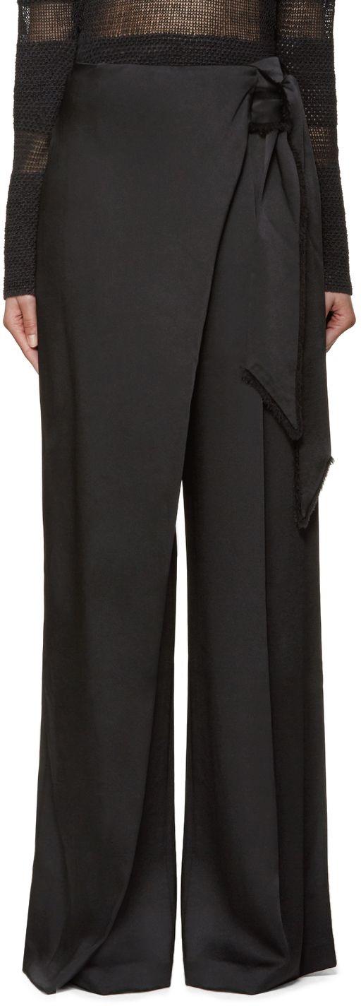 Maiyet: Black Wide-Leg Trousers | SSENSE