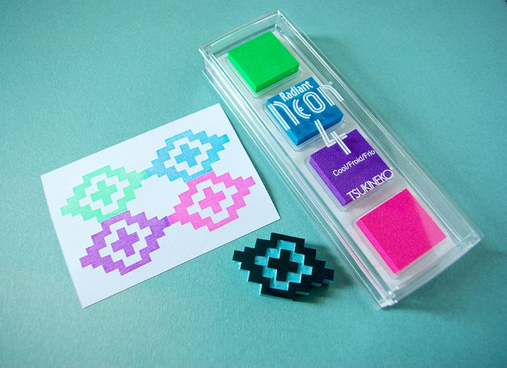 Radiant Neon. Cool colors. Pigmented ink. Very bright colors. Find them at Monquishop.
