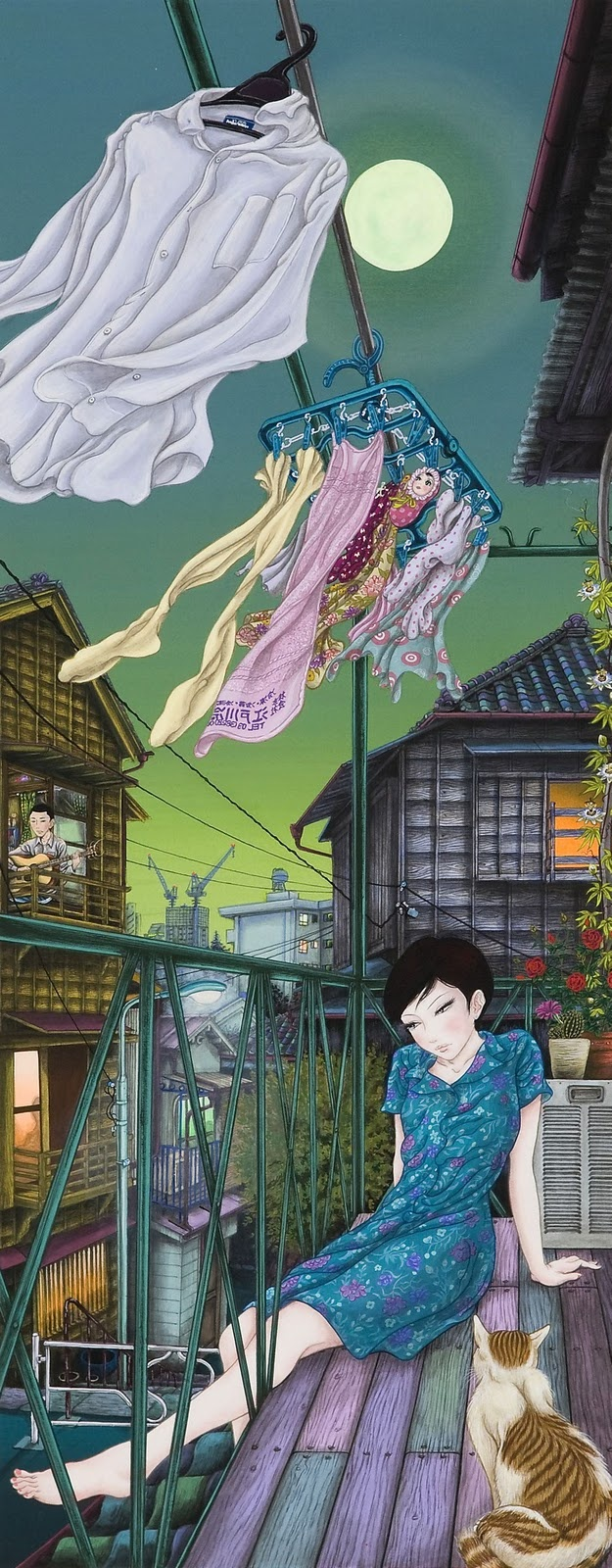 Yuji Moriguchi. This moves me but in opposite ways. Sad for the lonely girl or content with her time to dream. Leaning toward the latter.