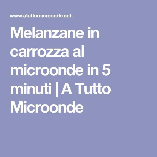 Melanzane in carrozza al microonde in 5 minuti | A Tutto Microonde