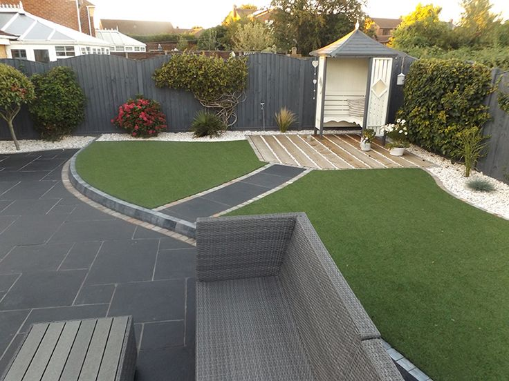 Modern Garden Design modern garden ideas Carbon Black Limestone Flagstones Modern Patio Landscaping Garden Design Seating