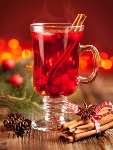 Santa's Little Helper 1½ oz. Devotion Vodka Blood Orange 1 oz. Licor ...