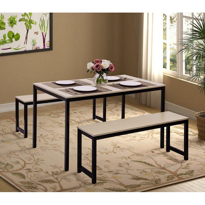 Partin 3 Piece Dining Set 3 Piece Dining Set Furniture Dining Set