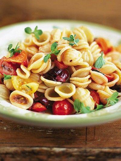 http://www.jamieoliver.com/recipes/pasta-recipes/orecchiette-with-raw-tomato-sauce/
