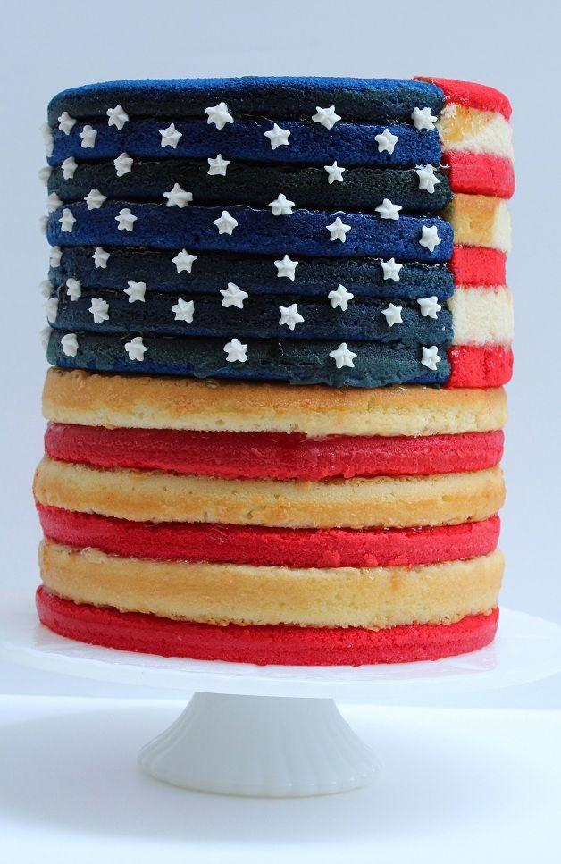 Con il cake design si può fare tutto, anche le bandiere!