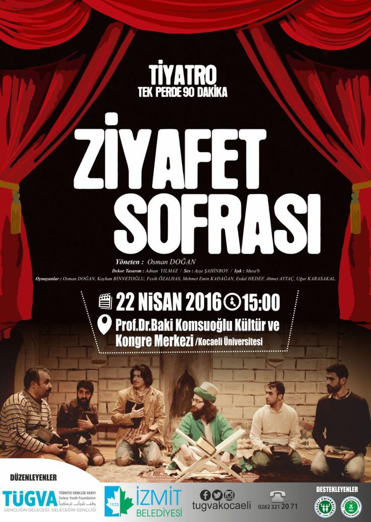 22 Nisan Cuma Baki Komsuoğlu Kültür Merkezi'ne bekliyoruz.