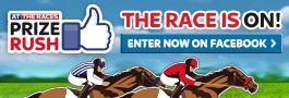 Visit the At The Races Prize Rush page on Facebook