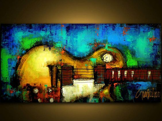 92 Best Guitars Acrylic Paintings Images On Pinterest