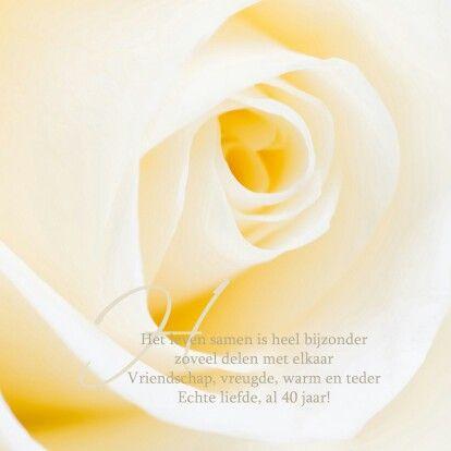 Felicitatie Gedicht 40 Jaar Getrouwd