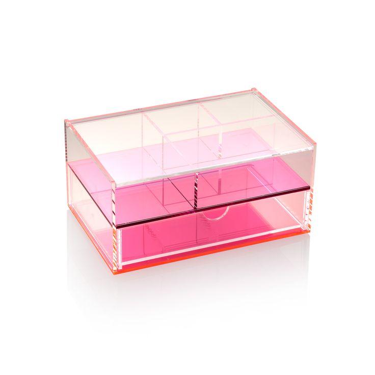 Buy The Purple Acrylic Storage Box With Drawers At Oliver Bonas. Enjoy Free  UK Standard