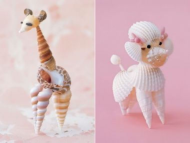 Love these adorable shell animals!
