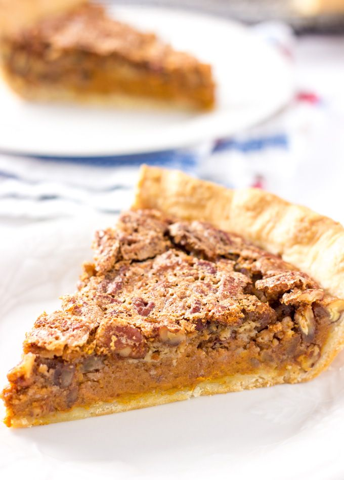 about Pecan Pumpkin Pie on Pinterest | Pumpkin pecan pie, Easy pumpkin ...