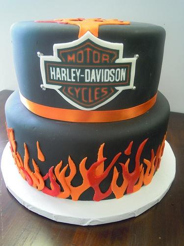 Edible Cake Images Harley Davidson : Harley Davidson Logo Edible Cake Decoration Motorcycle ...