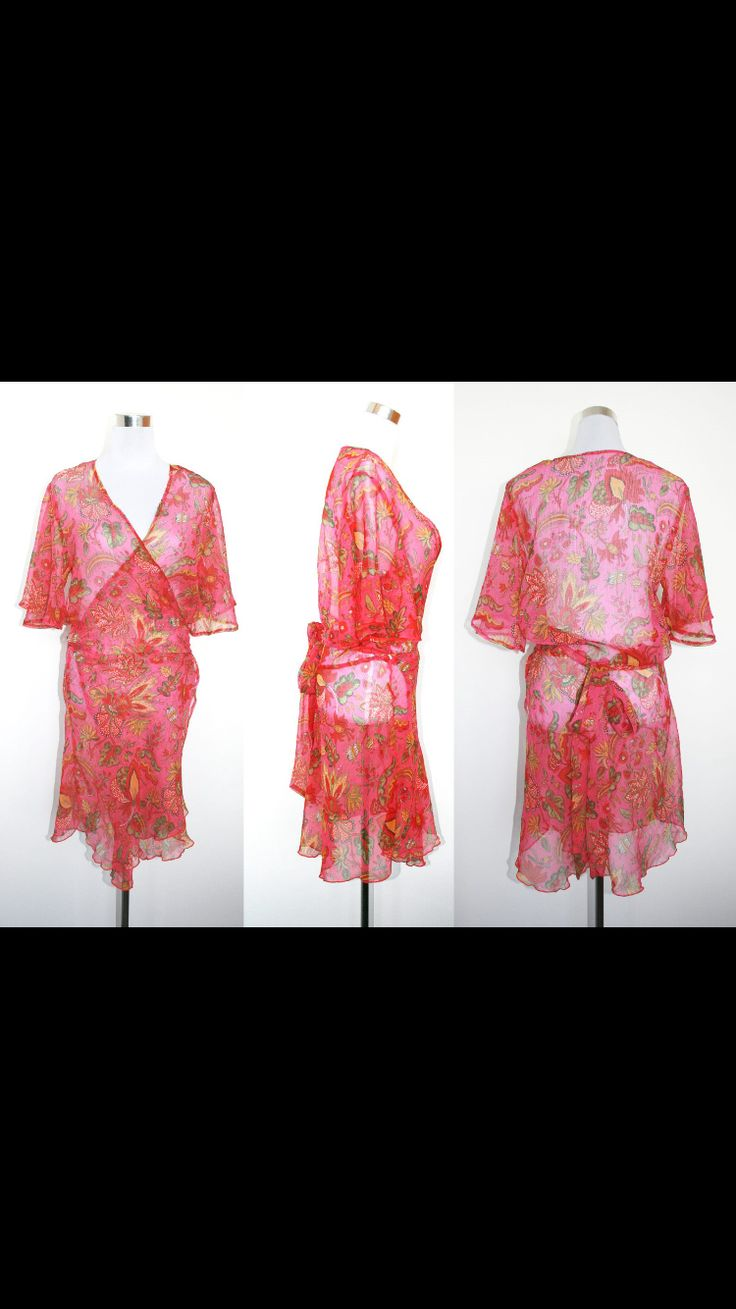 Butterfly dress in silk/rayon . This design began in 2002...