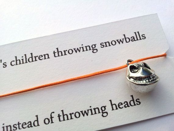 Children throwing snowballs instead of throwing heads Nightmare Before Christmas friendship bracelet on Etsy, $4.74 CAD