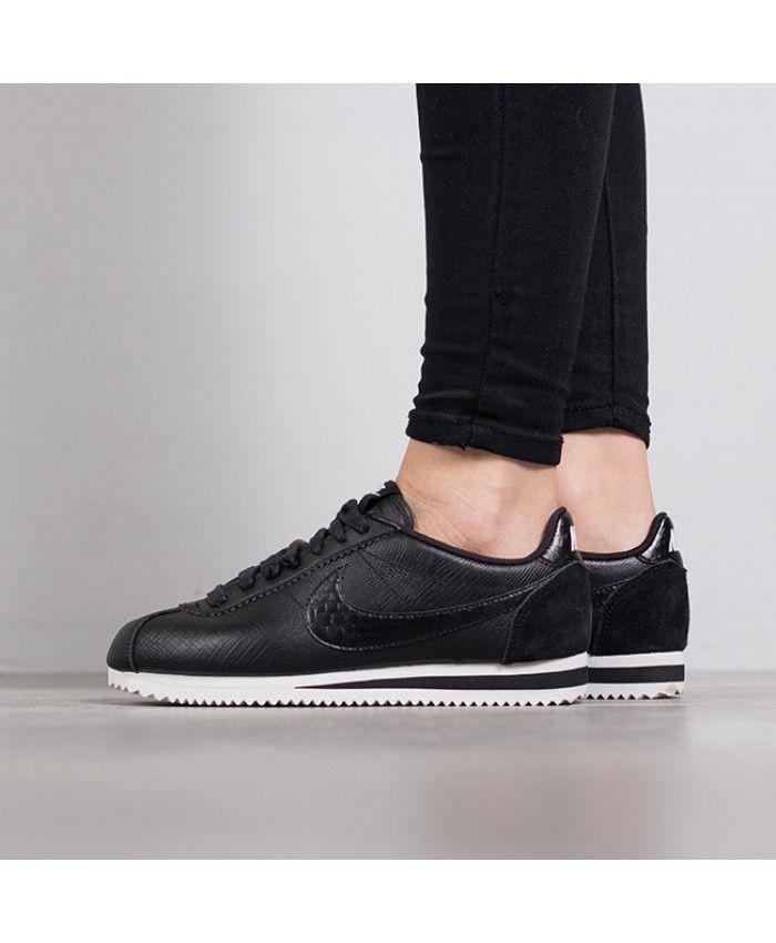 grand choix de 1ff12 81524 Femme Nike Classic Cortez Cuir Premium Tout Noir | nike ...