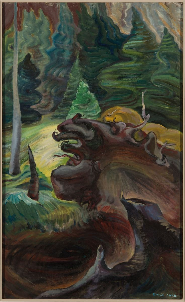 Roots DATE circa 1937 1939 RECORD PDP635 MATERIALS oil on canvas 110 5 x 61 3 cm ARTIST Emily Carr