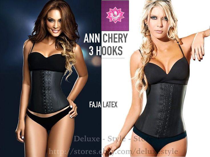 Ann Cherry 2021 3 Hooks Black Latex, Lose Weight, Faja Colombiana Para Mujeres