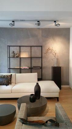 Trend Betonoptik im Wohnzimmer die moderne Beton Cire Wandgestaltung