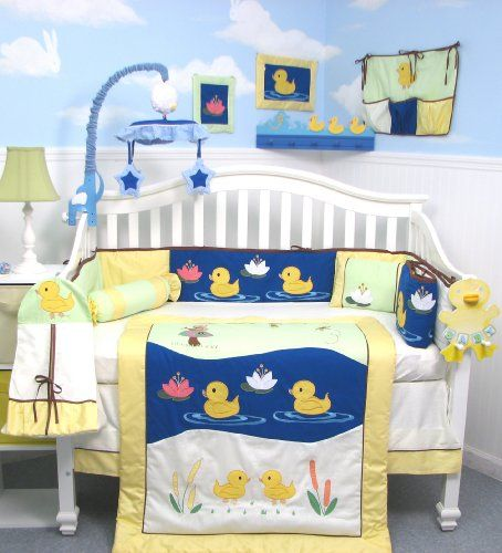 SoHo Quack Quack Ducks Baby Crib Nursery Bedding Set 13 pcs included Diaper Bag with Changing Pad & Bottle Case SoHo Designs,http://www.amazon.com/dp/B002I0K3SE/ref=cm_sw_r_pi_dp_ht18sb0TRCRASF0W