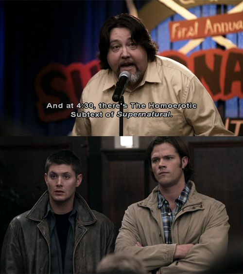 Gotta love a show that makes fun of itself and it's fans and gets away with it with hilarious results. #Supernatural