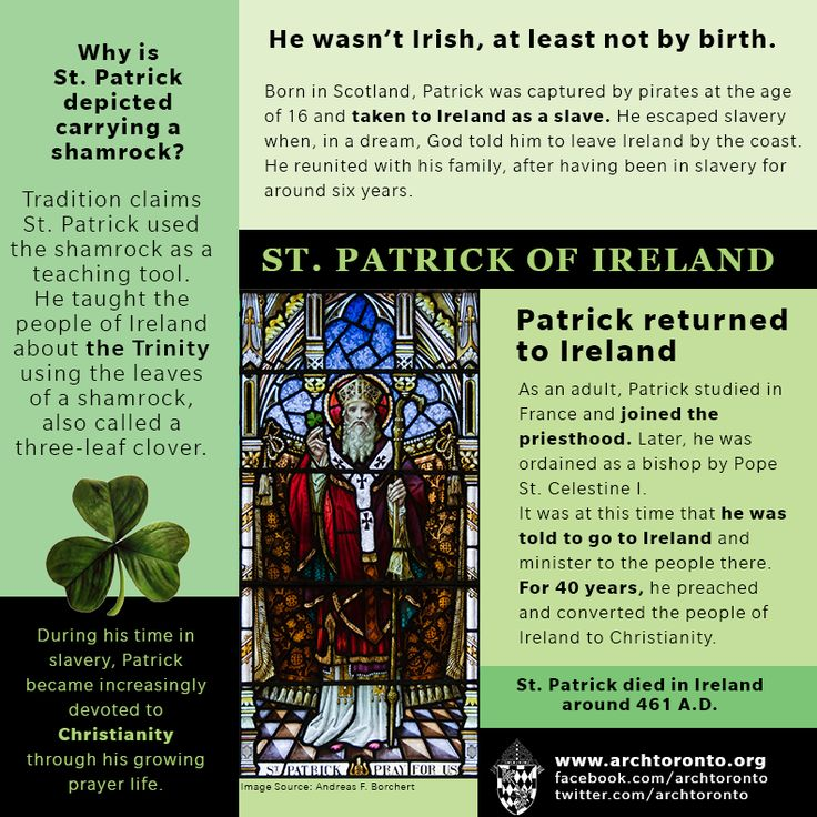 catholic singles in saint patrick Here's a saint study about st patrick, complete with lesson ideas and activities by kate daneluk we know that irish immigrants have greatly influenced our modern american culture and.